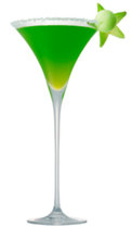 New Year's Melon 'Ball Drop' Martini